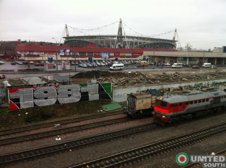 Новое граффити от болельщиков Локомотива