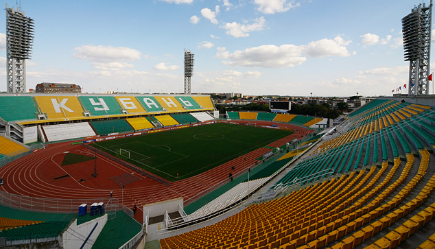 """Стадион  """"Кубань """" обновится к новому сезону российской премьер-лиги.  Кроме того, что полностью будет заменён газон..."""