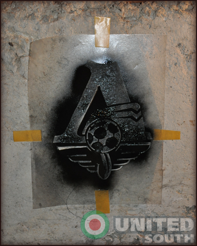 Изготовление трафарета с эмблемой Локомотива